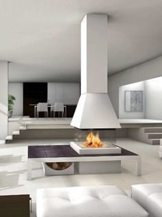 Faïence #ireplace Mantel TALLIN by Piazzetta #interiors #fireplace