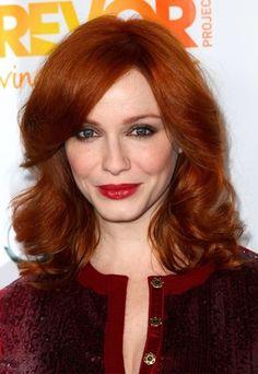 Celebrity red hair: Christina Hendricks with red hair - Auburn Hair