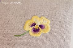 Freestyle Embroidery : Pansy - Mayu Embroidery