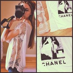 DIY Lace Sided T-Shirt