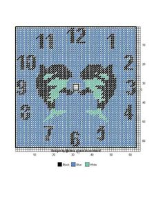 Orcas clock Plastic Canvas Crafts, Plastic Canvas Patterns, Clock Craft, Canvas 5, Canvas Designs, Tissue Box Covers, Yarn Crafts, Cross Stitching, Needlepoint