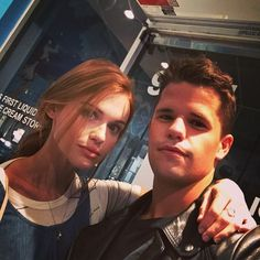 """Pin for Later: 32 Teen Wolf Cast Snaps That Will Give You Serious Pack Envy Charlie Carver: """"Birthday girl Max Carver, Max And Charlie Carver, Carver Twins, Aiden Teen Wolf, Teen Wolf Twins, Teen Wolf Mtv, Teen Wolf Cast, Scott Mccall, Red Hair Don't Care"""