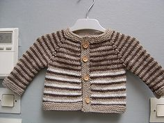 A simple and fuss free baby cardigan, ideal for a knitter who is new to seamless knitting, this tiny garment allows for lots of customisation to suit baby girls and boys alike. Baby Boy Knitting, Baby Knitting Patterns, Baby Patterns, Knitting Socks, Knitting Ideas, Baby Born Clothes, Babies Clothes, Baby Boy Cardigan, Kids Vest