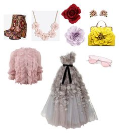 """""""Lil' Sis' Flower Outfit"""" by submissive-bookworm on Polyvore featuring Givenchy, Marchesa, Shellys, J.Crew, Cara and Les Néréides"""