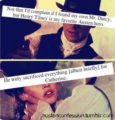 Henry Tilney is my favorite Austen character