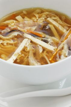 Hot and Sour Soup - use xanthan instead of cornstarch and skip the tofu