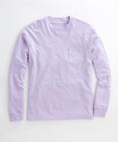 Vineyard Vines - L/S Vintage Whale Graphic Pocket T-Shirt