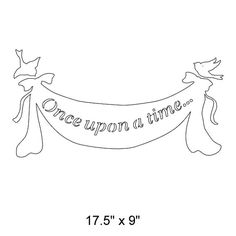 This cute banner will be the perfect addition to your girls princess wall mural. The non-personalized version displays Once upon a time... The words on the banner encourage storytelling and creative thinking in your child. For an additional charge you can personalize this banner with your childs name or birth date (ideas: Princess Isabella, Sophia, March 4, 2013).    You can paint with our stencils multiple times because they are reusable! The best part is that no artistic talent is required…