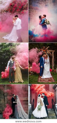 50 + Cool & Colorful Smoke Bomb Wedding Inspirations You Will Love Colored wedding smoke bombs sweety kiss pink wedding smoke bombs pink wedding color inspirations Wedding trends # wedding smoke bombs wedding smoke send out Cute Wedding Ideas, Wedding Goals, Wedding Pics, Wedding Trends, Dream Wedding, Wedding Inspiration, Wedding Dresses, Wedding Send Off, Wedding Black