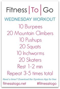 Wednesday Workout - Circuit Style HIIT Bootcamp workout that uses only your body weight! Hitt Workout, Workout Circuit, Boxing Workout, Fun Workouts, At Home Workouts, Body Workouts, Fitness Diet, Health Fitness, Body Workout At Home