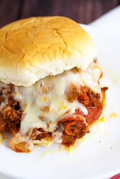Pizza Sloppy Joes Recipe -Quick and easy Pizza Sloppy Joes recipe is saucy and cheesy with everything you love about pizza and can be made in just 30 minutes for a simple quick and easy family dinner recipe! Look at that cheese! Yum!