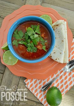 Easy Slow Cooker Mexican Posole Soup Recipe!