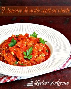 mancare de ardei copti Romanian Food, Romanian Recipes, My Recipes, Vegetarian Recipes, Curry, Ethnic Recipes, Anna, Random, Recipes