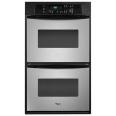Whirlpool 24 in. Double Electric Wall Oven Self-Cleaning in Stainless Steel-RBD245PRS at The Home Depot