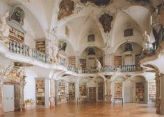 [agentlewoman] It's like a fairytale.       Library of St. Peter Abbey, Black Forest, Germany    I could live in here