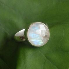 Natural Moonstone Ring - Rainbow MoonStone Ring, Handmade ring, gemstone sterling silver ring
