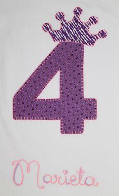 cocodrilova: conjunto de cumpleaños 4 años  #camisetacumleaños #4años #camisetapersonalizada #cumpleaños #hechoamano   camiseta-cumpleaños-4años