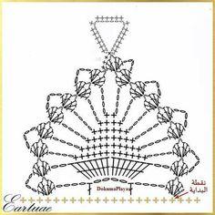 Guante Crochet Necklace Pattern, Crochet Gloves Pattern, Crochet Bracelet, Crochet Diagram, Crochet Chart, Crochet Motif, Crochet Flowers, Crochet Stitches, Crochet Patterns