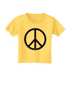 TooLoud Peace Sign Symbol Toddler T-Shirt