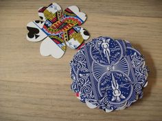 50 Upcycled Playing Cards-Die Cut Flowers. $3.00, via Etsy.