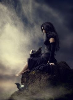 Dark Fantasy Art, Foto Fantasy, Fantasy Magic, Fantasy Kunst, Dark Gothic Art, Fantasy Women, Dark Beauty, Gothic Beauty, Beautiful Dark Art