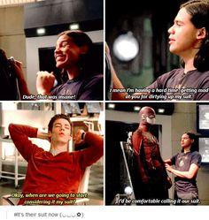 "The Flash 1x12 #CrazyForYou #BarryAllen #CiscoRamon ""Our Suit"""