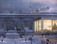 "Check out new work on my @Behance portfolio: ""winter house"" http://on.be.net/1GIFGX1"
