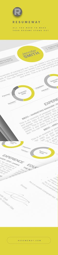 Free Resume Word Template  Editable With Access To Microsoft Word