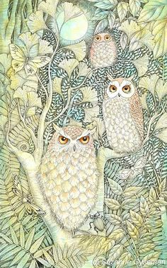 suzanne gyseman art | Tree of Owls' by Suzanne Gyseman