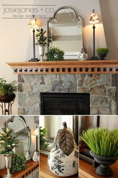 A Fireplace Mantle Redo » JosieJones & Company
