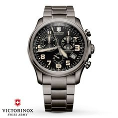 Victorinox Swiss Army Watch Infantry Vintage Quartz Chronograph 241289 Watch available to buy online from with free UK delivery. Vintage Watches For Men, Vintage Men, Stainless Steel Bracelet, Stainless Steel Case, Swiss Army Watches, Victorinox Swiss Army, Cool Watches, Men's Watches, Fancy Watches