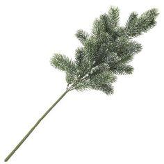Europalms X-Mas 83500421 Tannenzweig beschneit PE 65 cm Unverzichtbar für weihnachtliche  Tischdekoration ¨Tannenzweig mit fein verarbeiteten Wedeln  ¨Die Nadeln sind von einer leichten Schneeschicht bedeckt