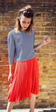 Skirting around the spotlight isn't an option with our Midi Pleated Skirt, just landed in store & online.