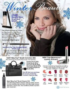 Mary Kay winter products. As a Mary Kay beauty consultant I can help you, please let me know what you would like or need. www.marykay.com/Imvalentin