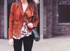 dark orange jacket
