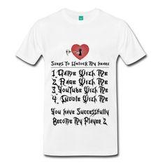 Steps To Unlock My Heart #Gamer #Gaming #YouTube #Cuddle #Rage #Game #Heart #Keyblade #Unlock #Player #Shirt #Spreadshirt #Videogame