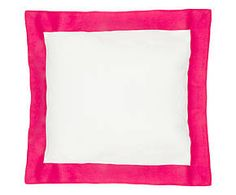 Cuscino arredo in lino Alain rosa - 50x50 cm