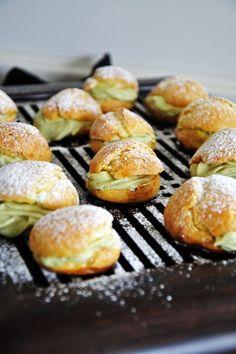 Matcha Cream Puffs: