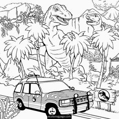 jurassic-world-t-rex-indominus-rex-coloring-page-e1441119551948.jpg (700×700)