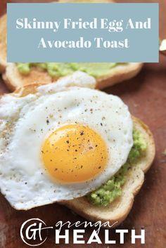 fried egg recipe, fried egg breakfast, healthy fried egg, fried egg avocado toast, fried egg avocado breakfast ideas, healthy breakfast via @grengahealth