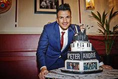 Peter Andre's 40th birthday cake Happy 40th Birthday, 40th Birthday Cakes, Peter Andre, Desserts, How To Make, Food, Tailgate Desserts, Deserts, Happy 40 Birthday