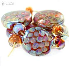 Lampwork Beads Honeycomb Kalypso Set