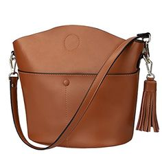 Buy S-ZONE Women's Small Cowhide Genuine Leather Purse Handbag Tassel Crossbody Shoulder Bag Upgraded Version - Brown - and Get More Latest Women Tote Bags Enjoy Up to off. Small Crossbody Bag, Leather Crossbody Bag, Leather Purses, Leather Handbags, Shoulder Purse, Crossbody Shoulder Bag, Wine Purse, Thing 1, Purple Bags