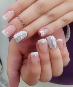50 Top Best Wedding Nail Art Designs to Get Inspired Fall Gel Nails, New Year's Nails, Get Nails, Bridal Nails, Wedding Nails, Colorful Nail Designs, Nail Art Designs, Dipped Nails, Stylish Nails