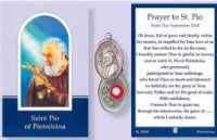 Prayer Booklet to St. Pio with Relic Medal. Prayer Verses, Prayer Cards, St Pio Of Pietrelcina, Verses For Cards, St Francis, All Saints, Booklet, Silver Color, Charity