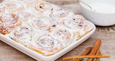 Original amerikanisches Cinnamon Rolls Rezept für sehr fluffige, saftige Zimtschnecken mit Creamcheese-Frosting