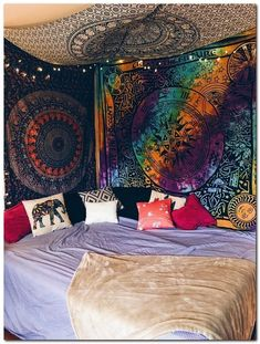 31 Cool And Fun Grunge Bedroom Ideas grungebedroomideas funbedroomideas coolbedroomideas com is part of Hippy bedroom - Punk Bedroom, Hippie Bedroom Decor, Grunge Bedroom, Hippy Bedroom, Teen Bedroom, Tie Dye Bedroom, Boho Decor, Hippie Home Decor, Decoration Inspiration