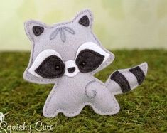 Sewing Stuffed Animals Looking for your next project? You're going to love Felt Baby Raccoon Stuffed Animal Plushie by designer Squishy-Cute Designs. Raccoon Stuffed Animal, Baby Raccoon, Sewing Stuffed Animals, Felt Stuffed Animals, Raccoon Craft, Plushie Patterns, Animal Sewing Patterns, Pattern Sewing, Felt Patterns Free
