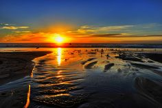 Sunset at Moonlight Beach, Encinitas - December 28, 2012 by Rich Cruse