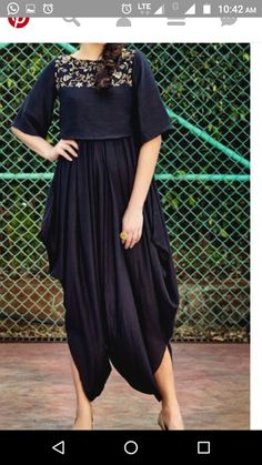 Follow mee.... Indian Look, Indian Wear, Ethnic Outfits, Indian Outfits, Kurta Designs, Blouse Designs, Dress Outfits, Fashion Dresses, Fancy Kurti
